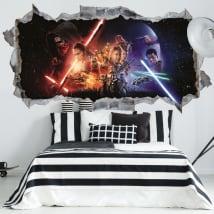 Adesivi murali 3d guerre stellari