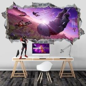 Vinile decorativo e adesivi fortnite videogioco 3d