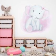 Vinile decorativo per bambini elefante