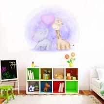 Vinile per bambini o neonati giraffa ed elefante