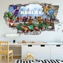 Vinili 3d videogioco roblox