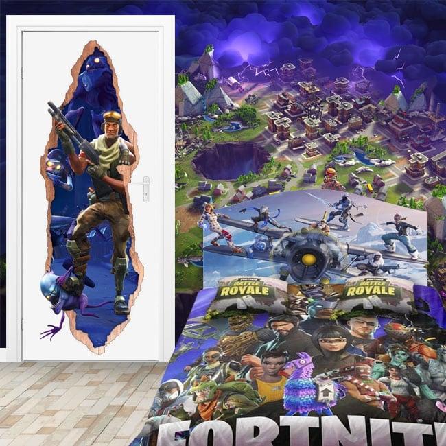 Carta da parati 3d videogioco fortnite