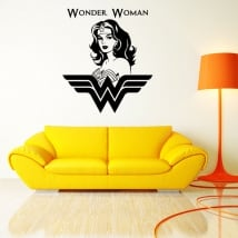 Vinile decorativo e adesivi silhouette wonder woman