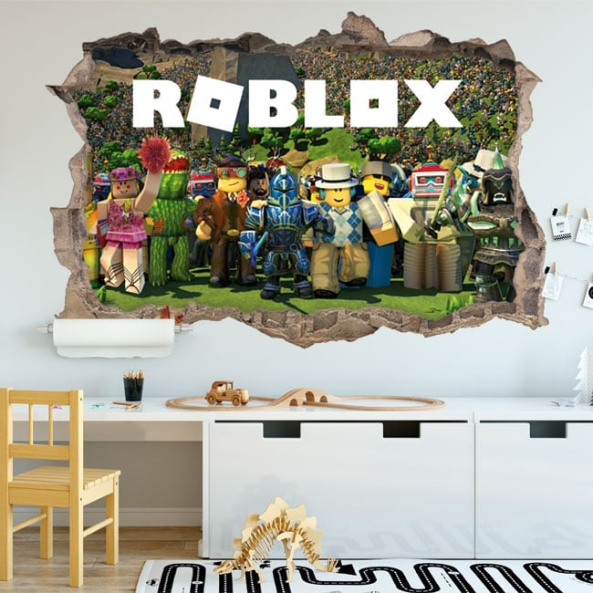 Adesivi in vinile videogioco roblox 3d