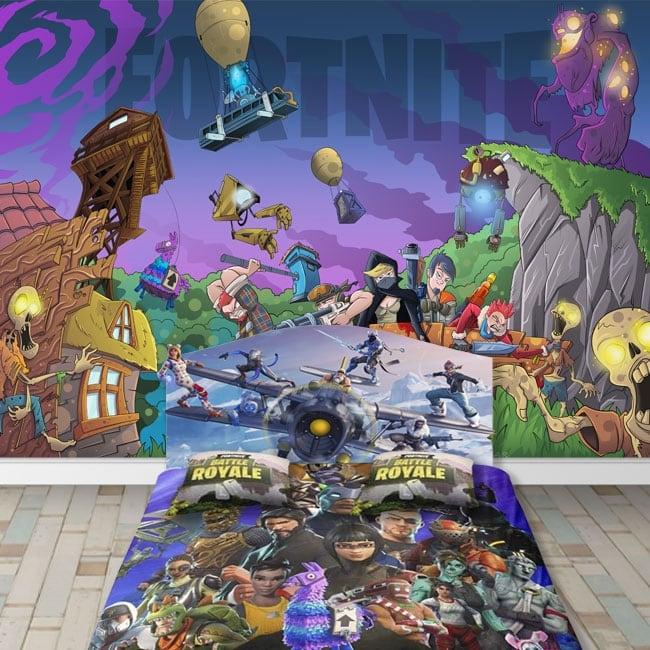 Murales adesivi videogioco fortnite
