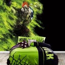 Murales in vinile marvel superhero hulk