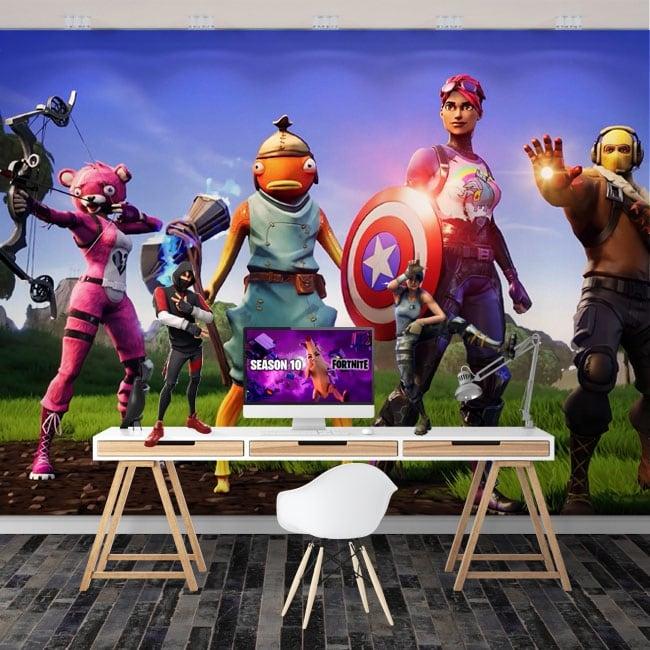 Murales i vendicatori videogioco fortnite