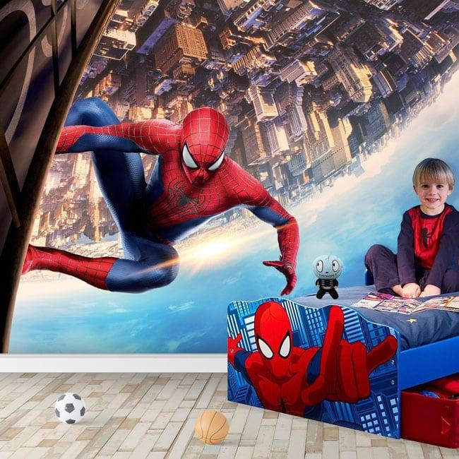 Murales in vinile spiderman marvel