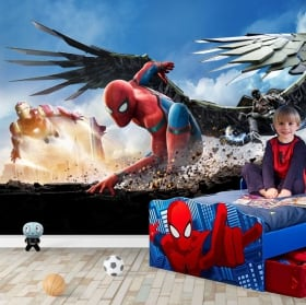 Murales in vinile spiderman marvel