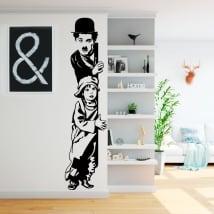 Sticker murale charles chaplin il bambino