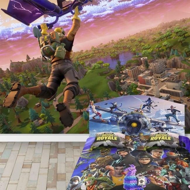 Murales di vinile videogioco fortnite