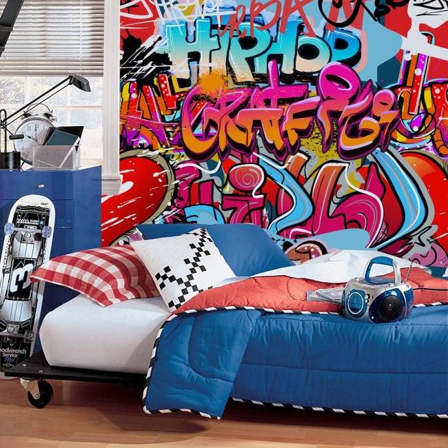 Murales in vinile di graffiti