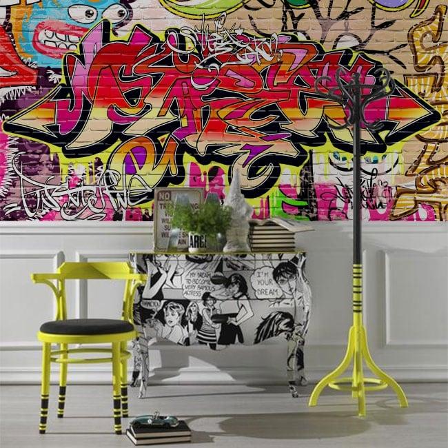 Murales in vinile graffiti