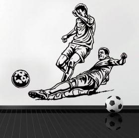 Vinile decorativo e adesivi giocatore di calcio