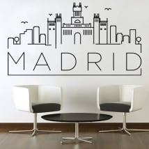 Vinile decorativo e adesivi skyline di madrid