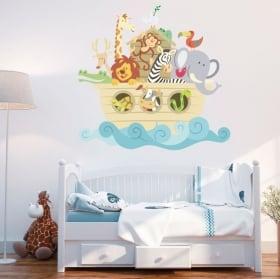 Vinile e adesivi per bambini o neonati l'arca di noè