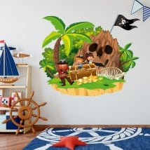 Vinile per bambini il tesoro del pirata