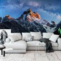 Murales in vinile cielo stellato sul monte ushba meyer