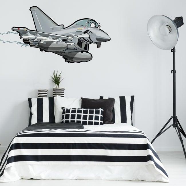Vinile decorativo e adesivi per giovani aereo da combattimento