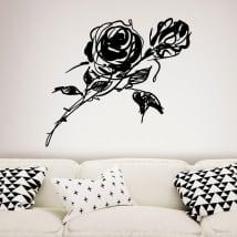 Vinile decorativo e adesivi con rose