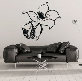 Vinile decorativo e adesivi tratto floreale