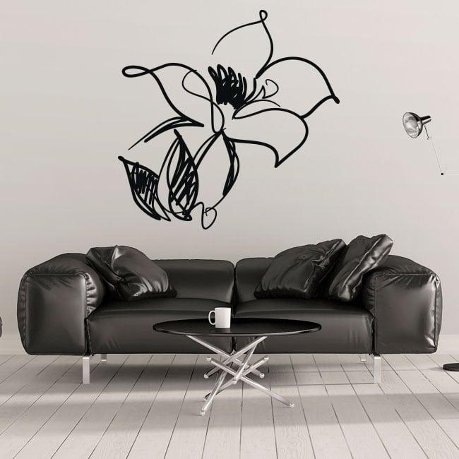 Vinile decorativo e adesivi fiore di colpi