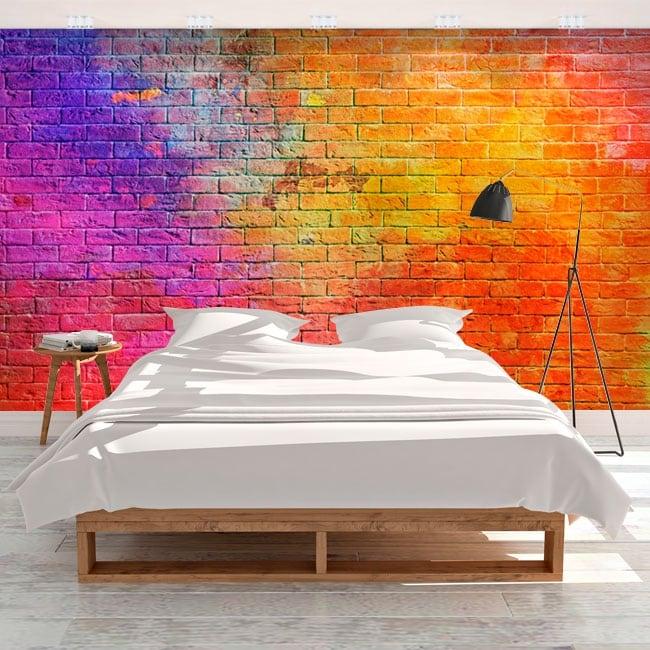 Adesivi murali con mattoni