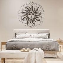 Vinile decorativo e adesivi sole con la faccia