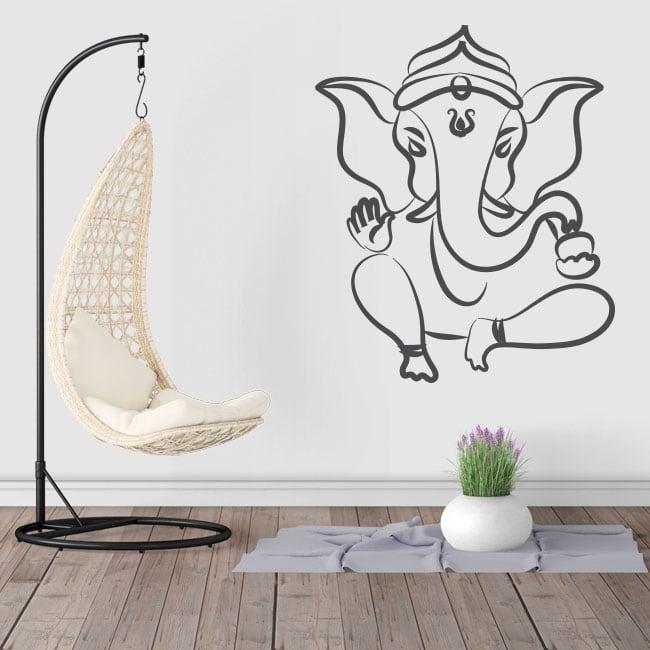 Vinile e adesivi silhouette elefante di ganesha