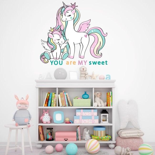 Vinili e adesivi per bambini e giovani unicorni