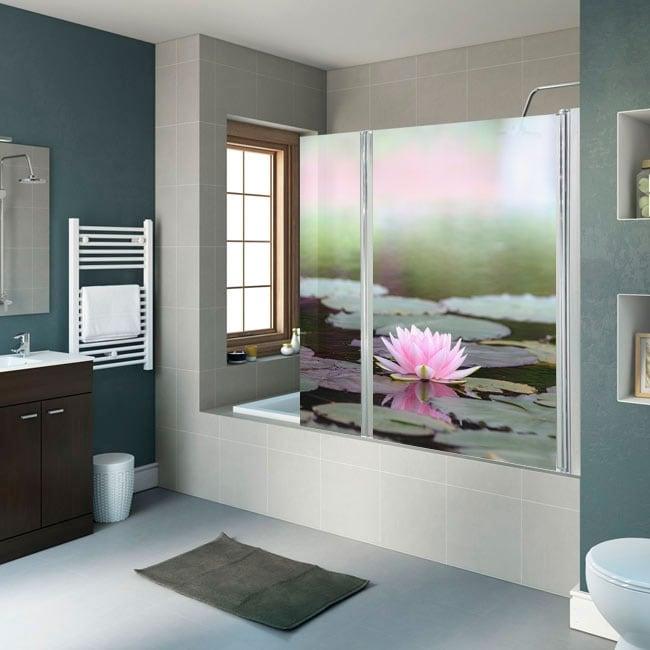 Vinili schermi da bagno fiore di loto
