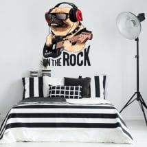 Vinile decorativo e adesivi cane rock