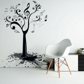 Vinile decorativo e adesivi albero secco con uccelli