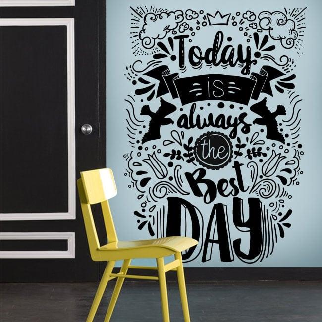 Vinile decorativo frasi motivazionali in inglese
