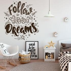 Vinile decorativo con frasi motivazionali
