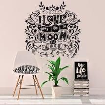 Vinile decorativo e adesivi frasi romantiche