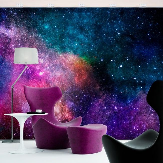 Murales in vinile colori della galassia