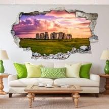 Vinile decorativo e adesivi 3d stonehenge