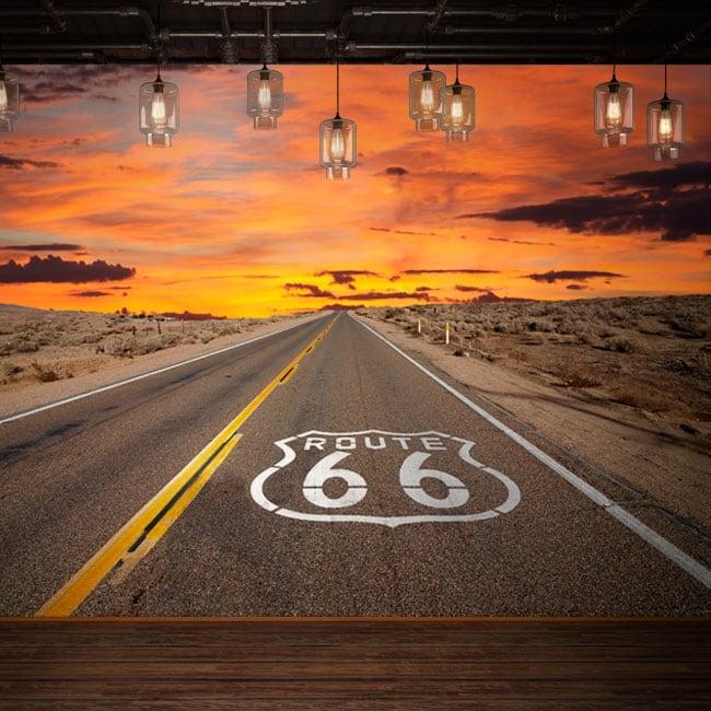 Murales in vinile route 66