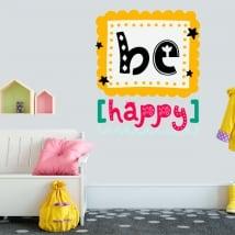 Vinile decorativo e adesivi sentenza be happy