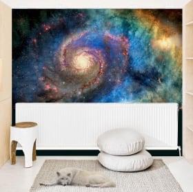 Murales in vinile galassia a spirale