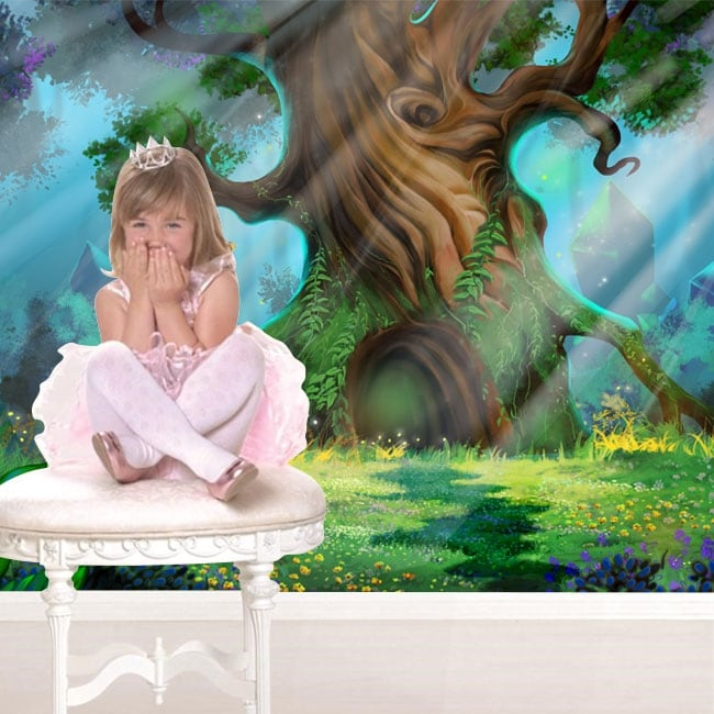 Adesivi murali foresta magica