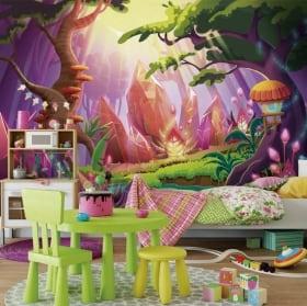 Murales per bambini foresta magica