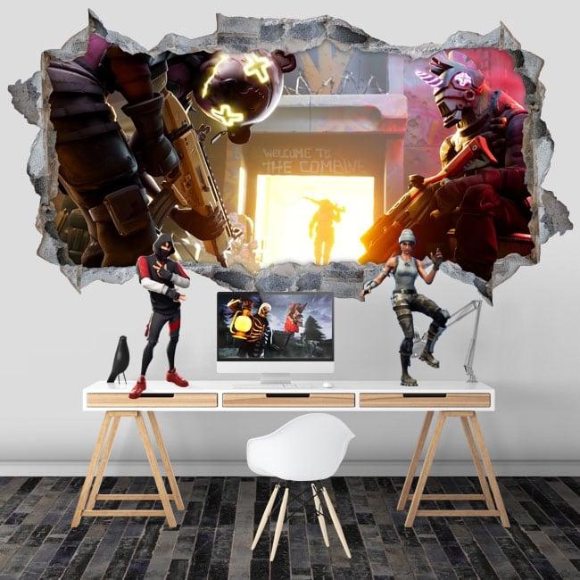 Vinili buco muro 3d videogioco fortnite