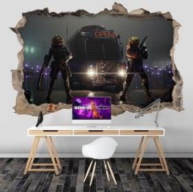 Adesivi pareti fortnite 3d