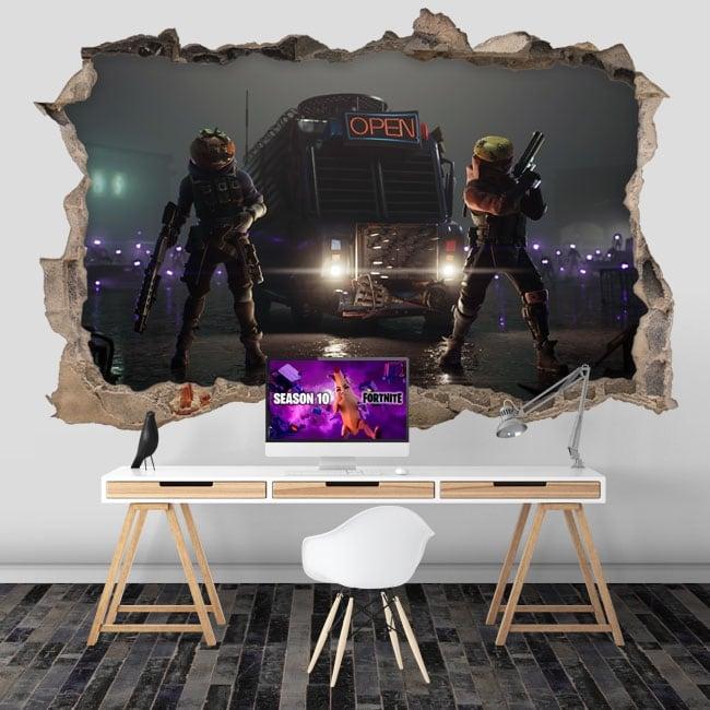 Vinili buco nel muro videogioco fortnite 3d