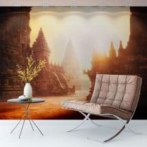 Adesivo murale alba tempio prambanan indonesia