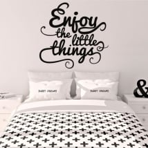 Vinile decorativo frase inglese enjoy the little things