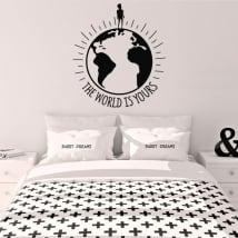 Vinile decorativo sentenza the world is yours