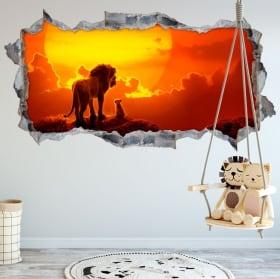 Vinili e adesivi 3d il re leone